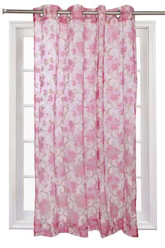 ROSARA Home Floral Printed Window Curtain