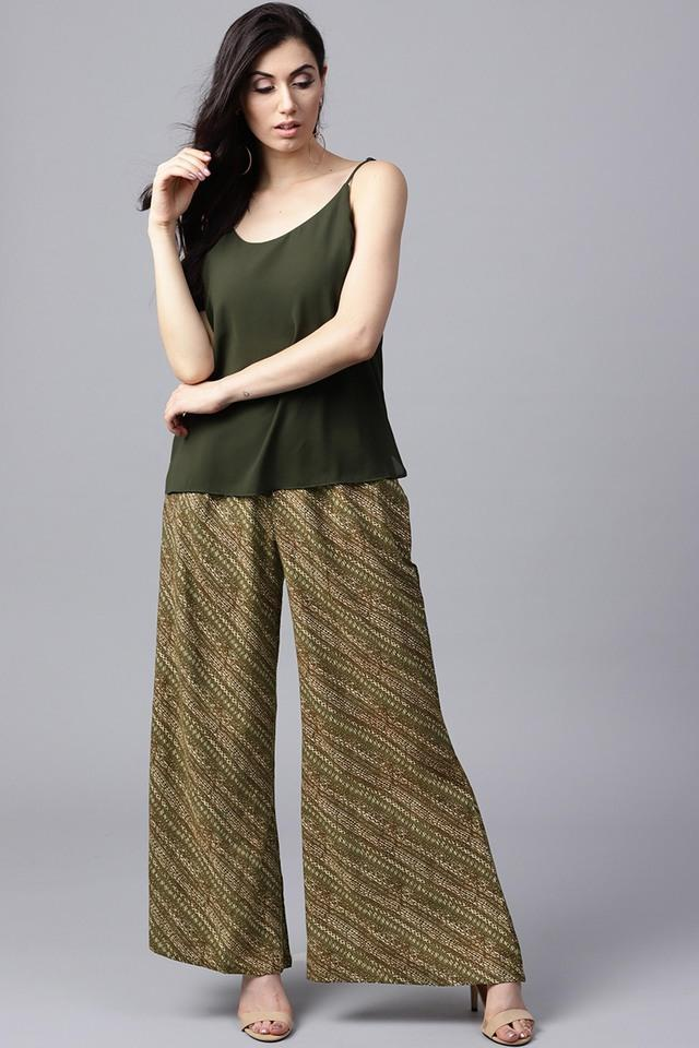 Women Rayon Printed Palazzo With Both Side Pockets
