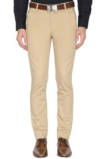 STOP -  Khaki Formal Trousers - Main