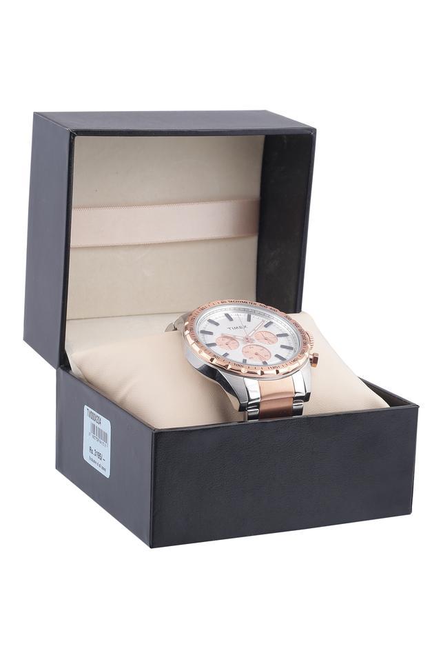 Womens White Dial Metallic Chronograph Watch - TW000X204