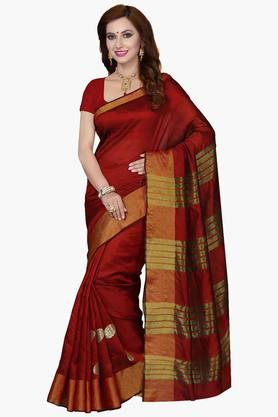 ISHIN Womens Poly Silk Zari Work Saree