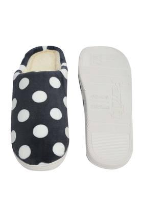 Polka Dot Slipon Bath Slippers