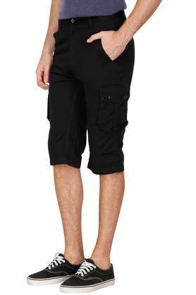 Mens 6 Pocket Solid Shorts