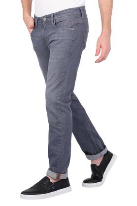 Mens 5 Pocket Whiskered Effect Jeans (Matt Fit)