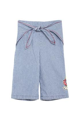 Girls Striped Casual Culottes