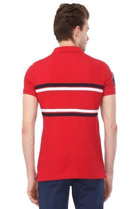Mens Graphic Print Polo T-Shirt