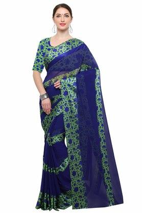 RACHNAWomens Georgette Printed Saree With Blouse