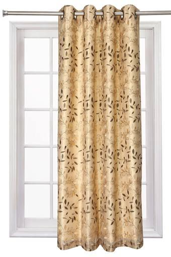 Embroidered Sheer 2 in 1 Window Curtain