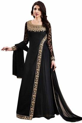 DEMARCA Womens Georgette Designer Unstitched Anarkali Dress Material
