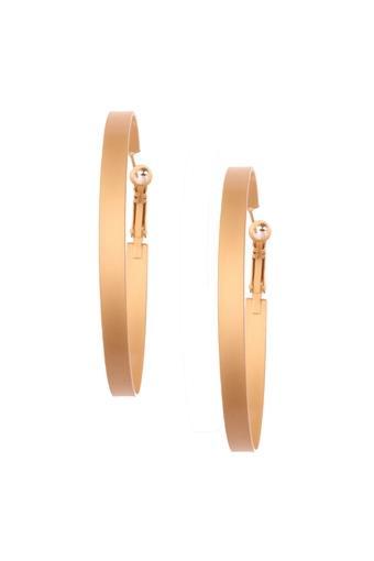 Womens Matte Hoop Earrings
