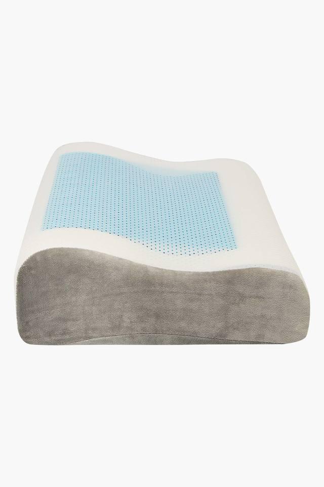 Rectangular Contoured Memory Foam Gel Pillow