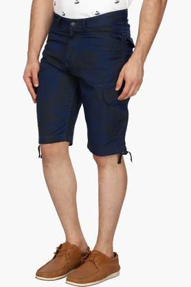 Mens 7 Pocket Printed Cargo Shorts