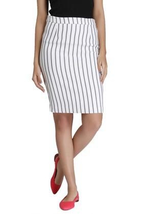 VERO MODA Womens Stripe Pencil Skirt