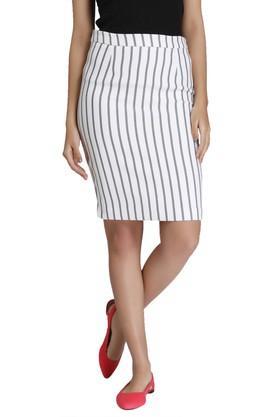 VERO MODAWomens Stripe Pencil Skirt