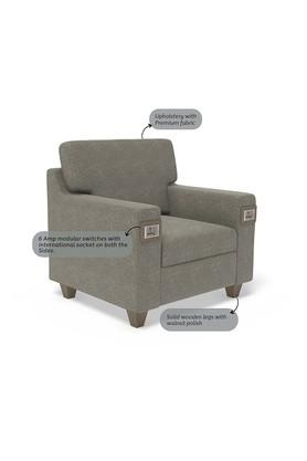 Self Pattern 1 Seater Sofa with 6 Amp Modular Switch