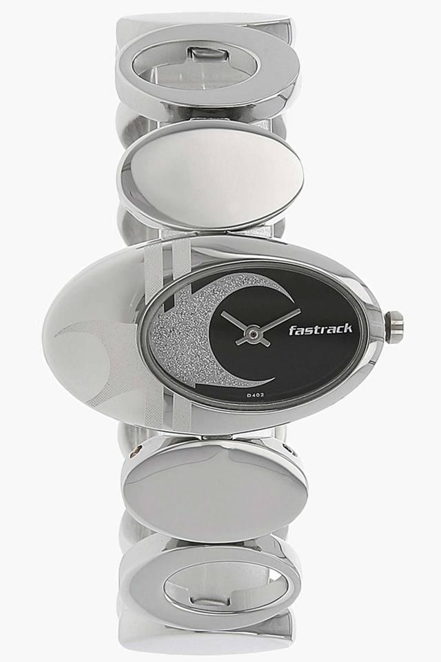 Black Dial Brass Strap Watch - NJ6024SM01