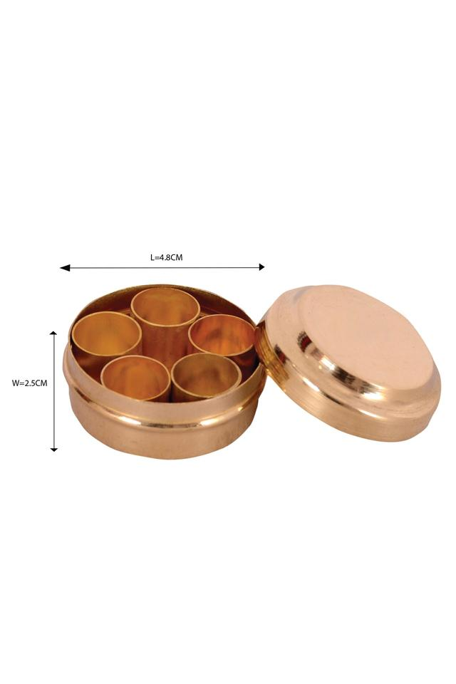 Brass Miniature Pretend Play Set Masala Box