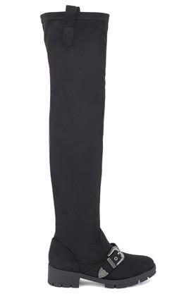 Womens Casual Wear Zipper Closure Thigh High Boots