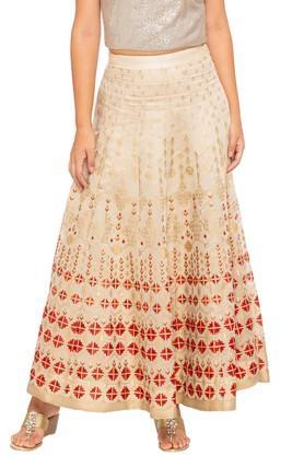 GLOBAL DESIWomens Printed Long Skirt