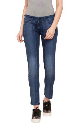 Womens 5 Pocket Heavy Wash Jeans