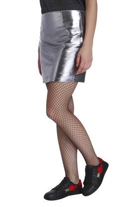 Womens Slim Fit Solid Skirt
