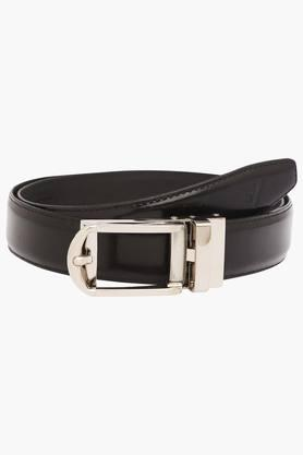 VETTORIO FRATINI Mens Leather Buckle Closure Formal Belt - 203362217