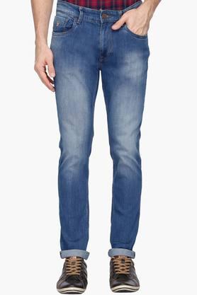 U.S. POLO ASSN. DENIMMens Slim Fit Heavy Wash Jeans (Brandon Fit)