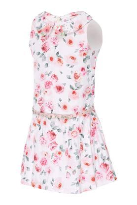 Girls Collared Printed Dress