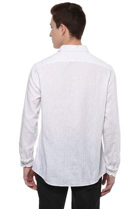 Mens Straight Fit Printed Casual Shirt