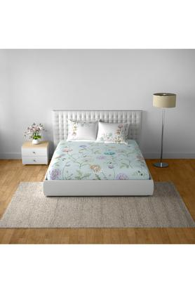 SPACESCotton Printed Double Bedsheet With 2 Pillow Covers - 203257435_9900