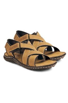 Mens PU Velcro Closure Sandals
