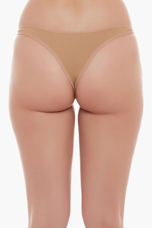 Womens Low Waist Solid Thong