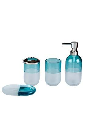 Lucida Colour Block Bathroom Accessories Set of 4