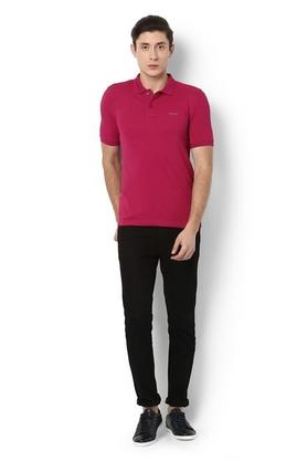 Mens Regular Fit Solid Polo T-Shirt