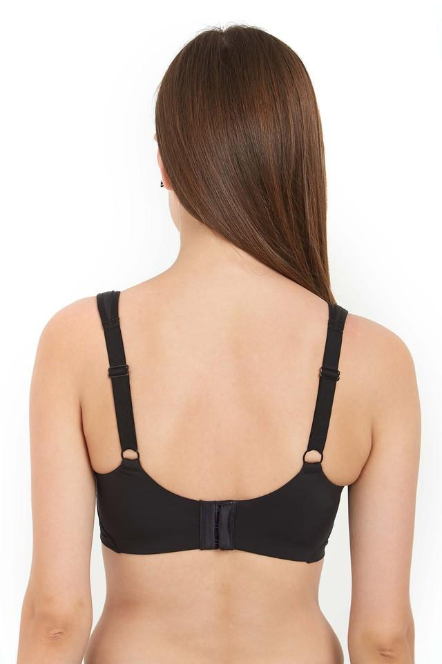 Womens Solid Padded Full Coverage Bra