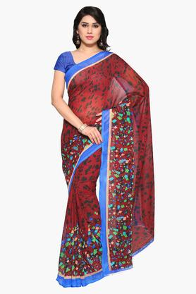 DEMARCA Womens Faux Georgette Printed Saree - 203229584