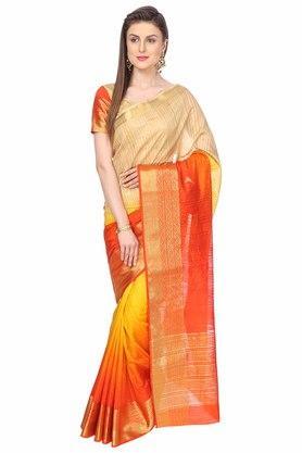 ASHIKAEthnic Saree With Blouse Piece
