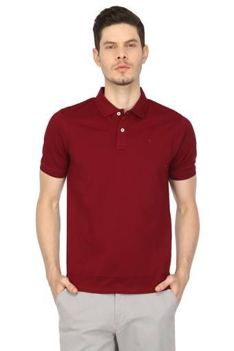 LOUIS PHILIPPE -  Maroon T-shirts - Main