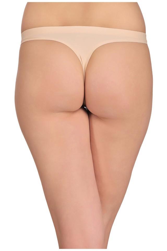 Womens Low Waist Solid Thong Briefs