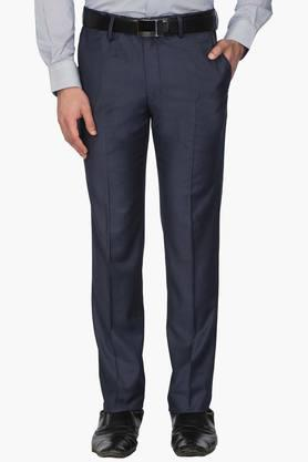 LOUIS PHILIPPE Mens 4 Pocket Slub Formal Trousers - 203054218