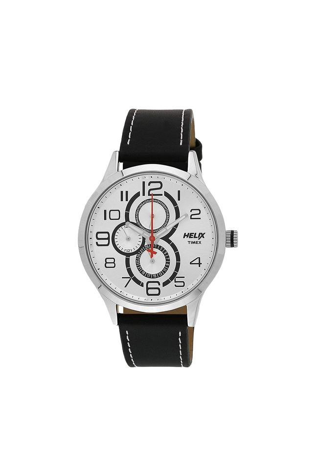Mens White Dial Analogue Watch - TW003HG09