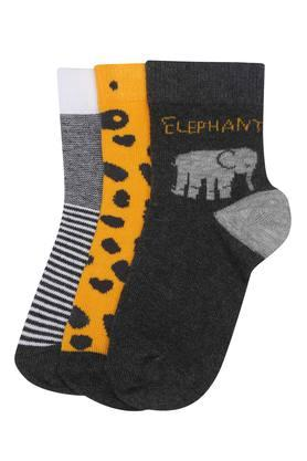 Boys Elephant Printed Socks - Pack of 3