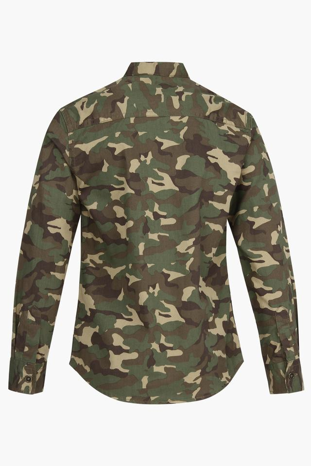 Boys Camouflage Casual Shirt