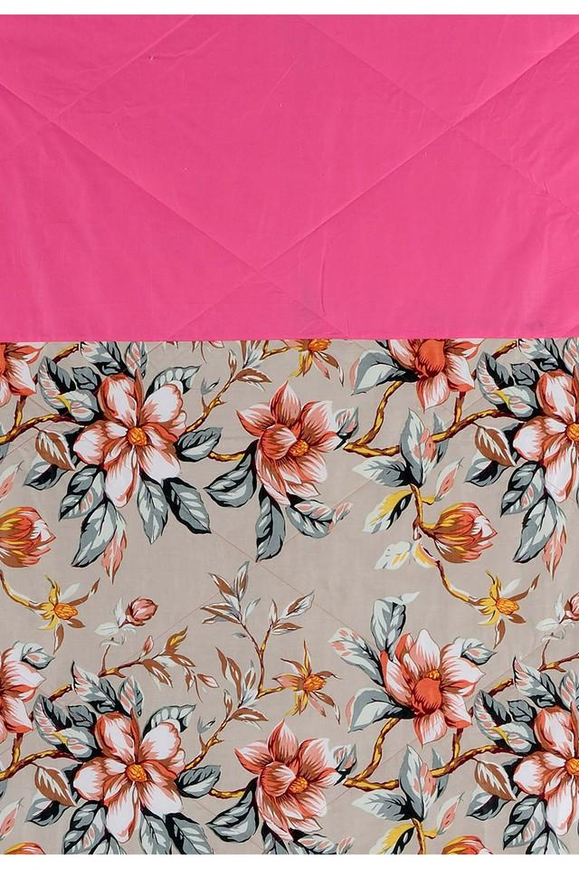 Pink and Peach Floral Single AC Comfortor