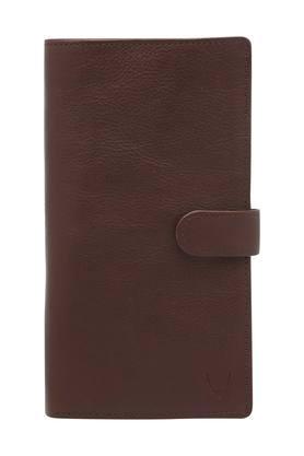 Mens Button Closure Passport Holder