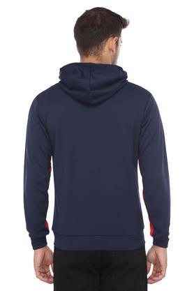 Mens Hooded Neck Colour Block Sweatshirt