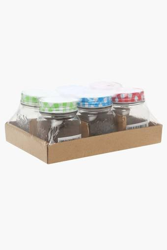 Round Transparent Jar with Lid Pack of 6 - 150ml each