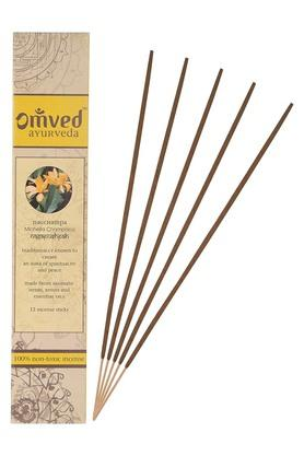 OMVEDChampa Flowers Non-toxic Natural Incense Sticks Set Of 12