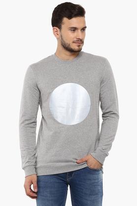 UNITED COLORS OF BENETTONMens Round Neck Slub Sweatshirt