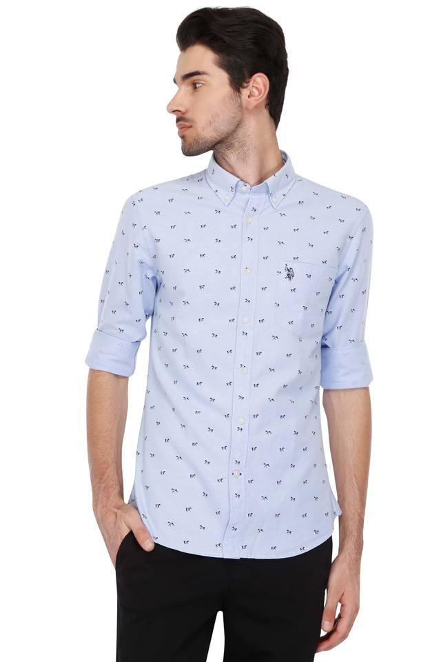Mens Buttondown Collar Printed Shirt